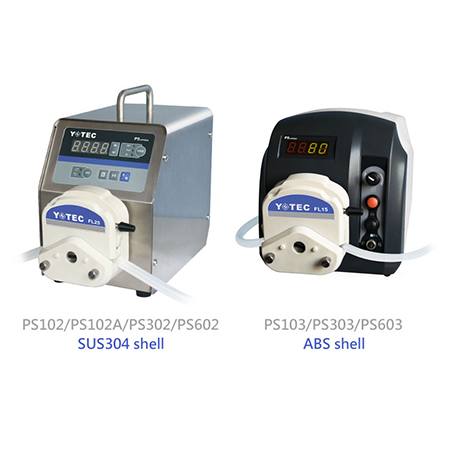 Basic Peristaltic Pump - PS102/PS102A/PS302/PS602 (SUS304 shell) PS103/PS303/PS603 (ABS shell)